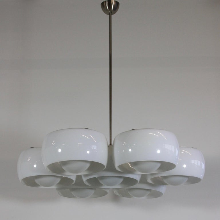 Metal Ceiling Lamp Eptaclinio Designed by Vico Magistretti for Artemide, 1961 For Sale