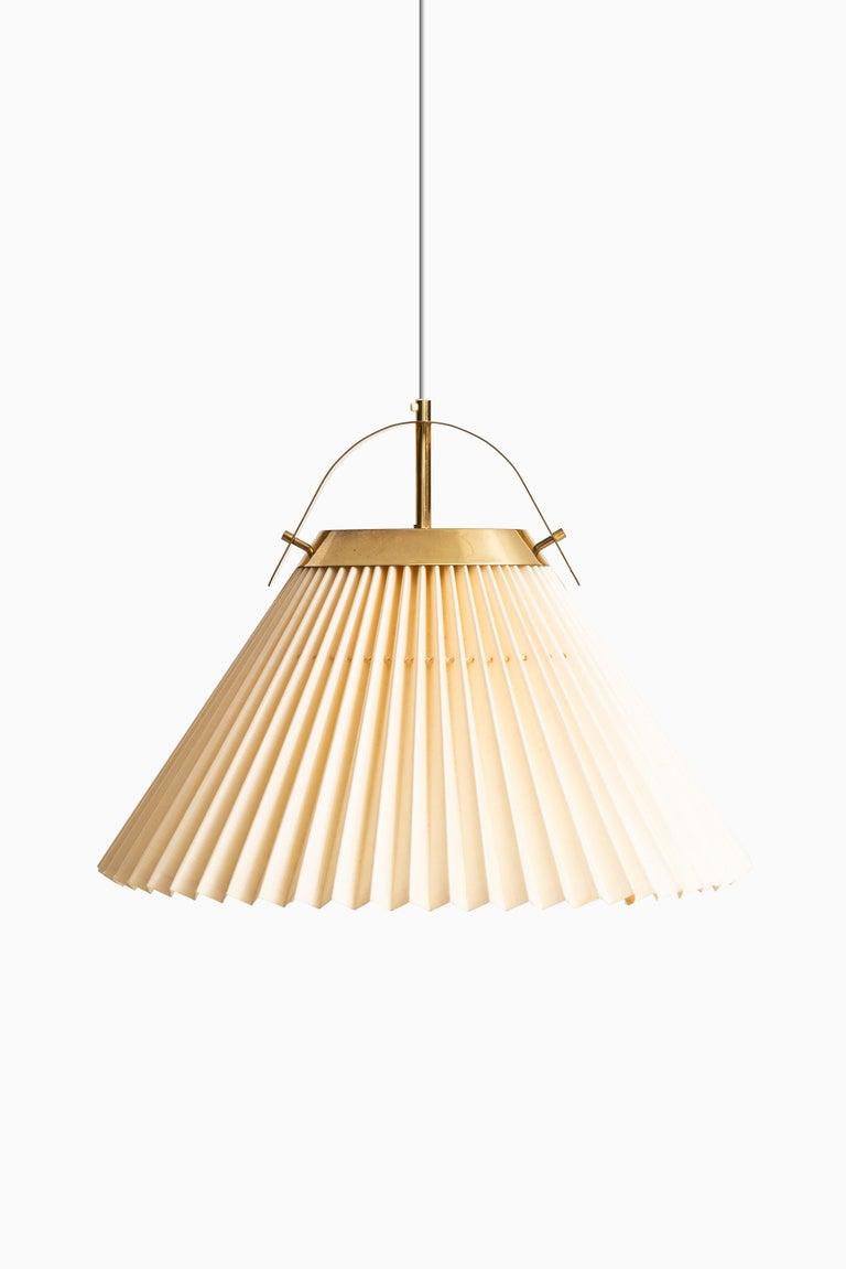 Scandinavian Modern Ceiling Lamp in Brass Produced by Bergbom in Sweden For Sale