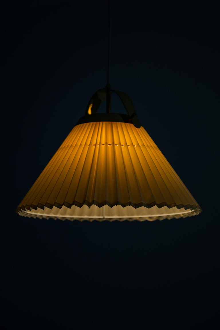 Mid-20th Century Ceiling Lamp in Brass Produced by Bergbom in Sweden For Sale