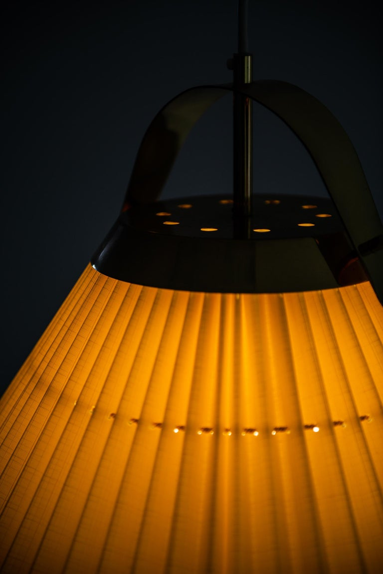 Ceiling Lamp in Brass Produced by Bergbom in Sweden For Sale 1