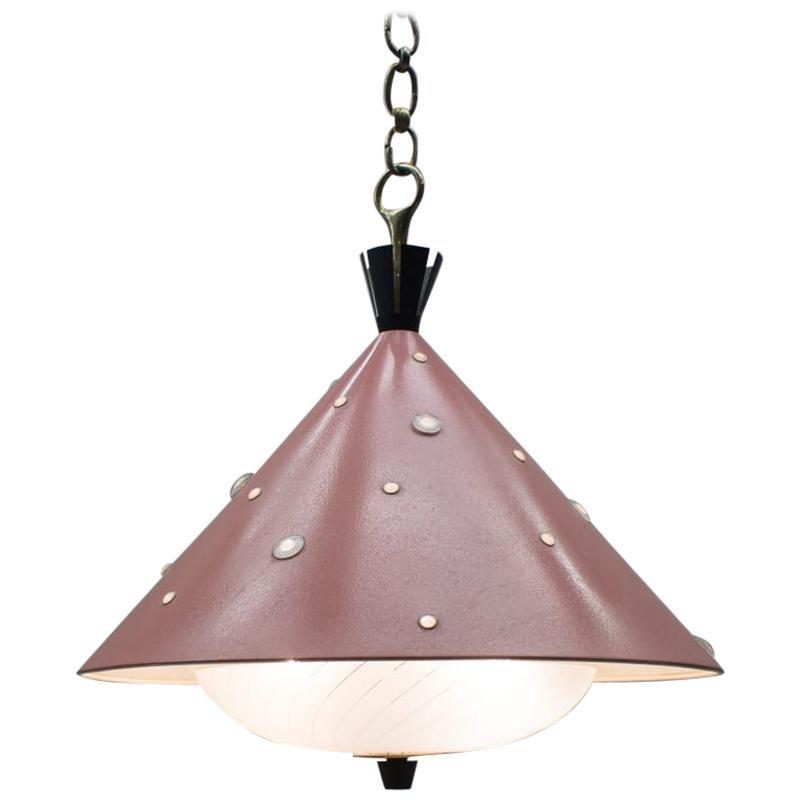 Ceiling Lamp in the Manner Arredoluce / Angelo Lelli, Italy, 1950s