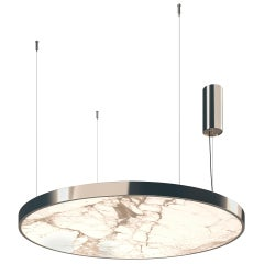 Ceiling Lamp Metal Frame Champagne Silver or Nickel Finish Custom in 50 Colors