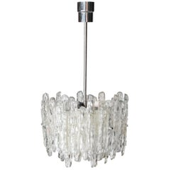 "Ceiling Lamp Model ""Ice Glass"" Designed and Produced by J.T. Kalmar Austria 1960"