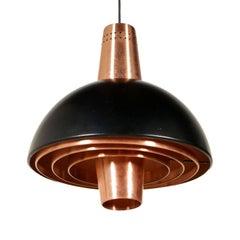 Ceiling Lamp Stilnovo Lacquered Aluminium Copper Vintage, Italy, 1960s
