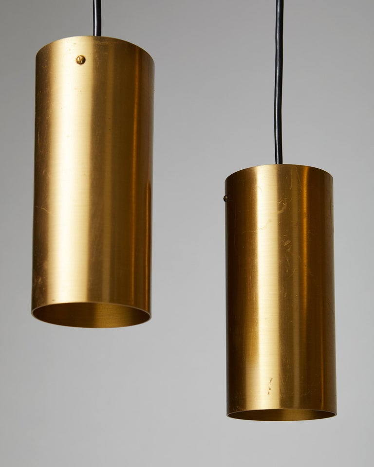 Brass Ceiling Light, Anonymous, Sweden, 1950s For Sale