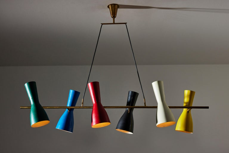 Lacquered Ceiling Light by Stilnovo For Sale