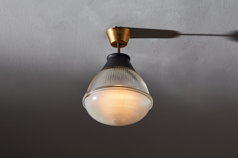 Brass Ceiling Light by Tito Agnoli for Oluce For Sale