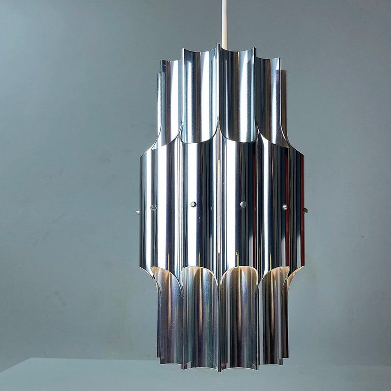 Ceiling Light Pan by Bent Karlby for Lyfa, Denmark, 1960s In Good Condition For Sale In Haderslev, DK