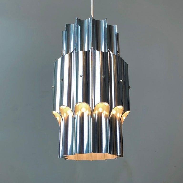 Aluminum Ceiling Light Pan by Bent Karlby for Lyfa, Denmark, 1960s For Sale