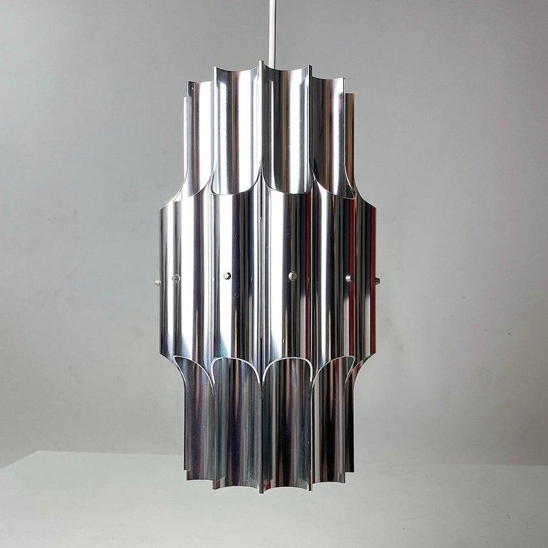 Ceiling Light Pan by Bent Karlby for Lyfa, Denmark, 1960s For Sale 1