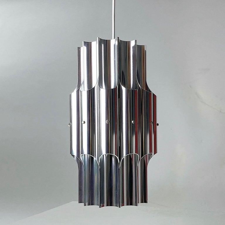 Ceiling Light Pan by Bent Karlby for Lyfa, Denmark, 1960s For Sale 2