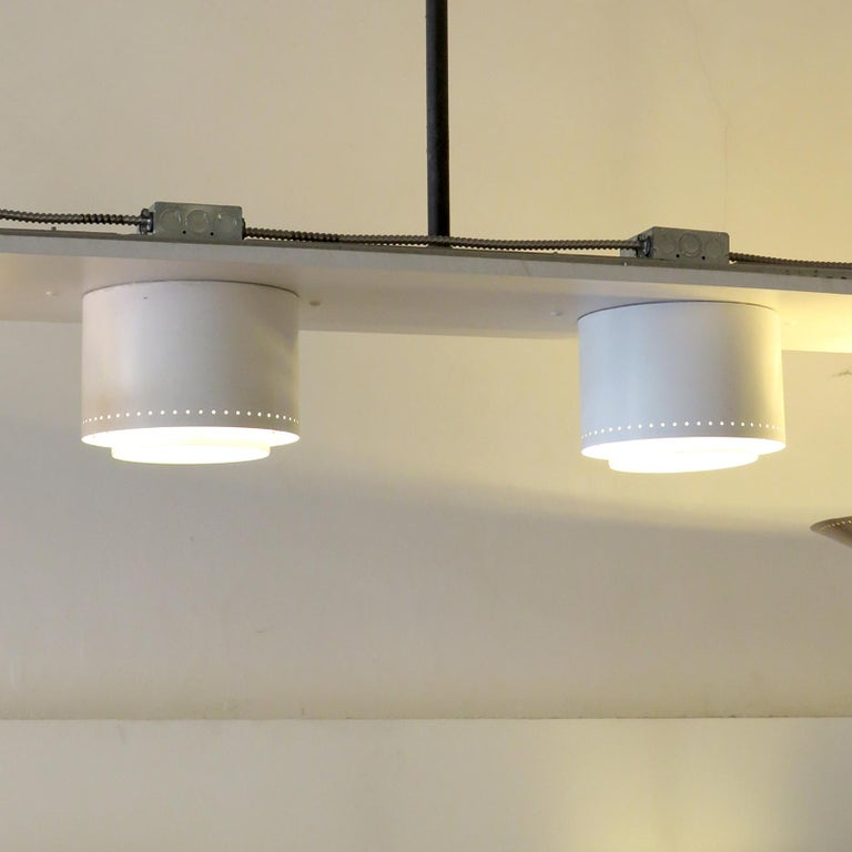 Enameled Ceiling Lights Model 'AE 97/25' by Itsu, 1960 For Sale