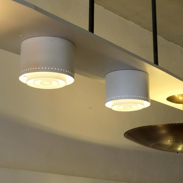 Ceiling Lights Model 'AE 97/25' by Itsu, 1960 In Good Condition For Sale In Los Angeles, CA