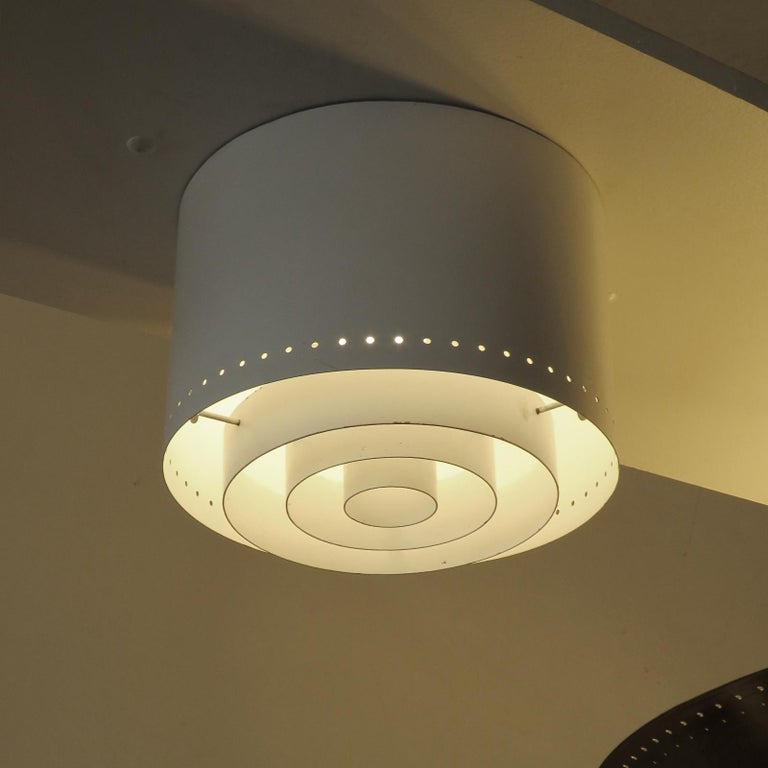 Metal Ceiling Lights Model 'AE 97/25' by Itsu, 1960 For Sale