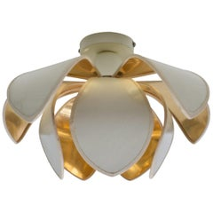 Ceiling or Wall Flower Blossom Lamp by Le Dauphin, Saint Marcellin, France 1970s