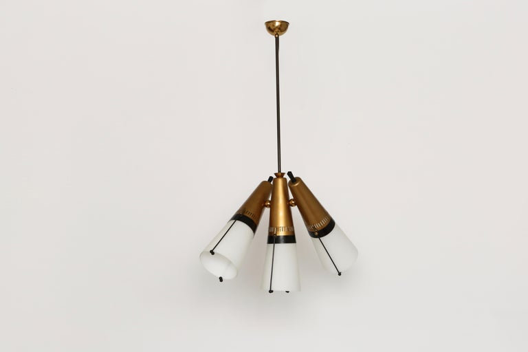 Mid-Century Modern Ceiling Pendant by Lamperti For Sale