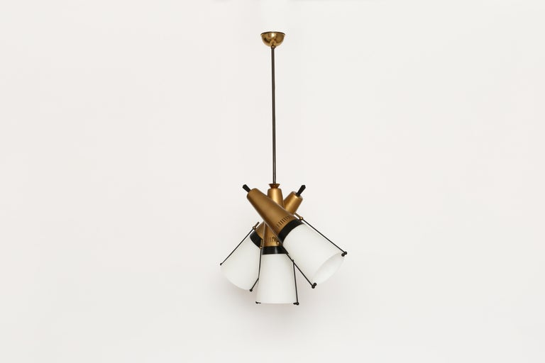 Italian Ceiling Pendant by Lamperti For Sale