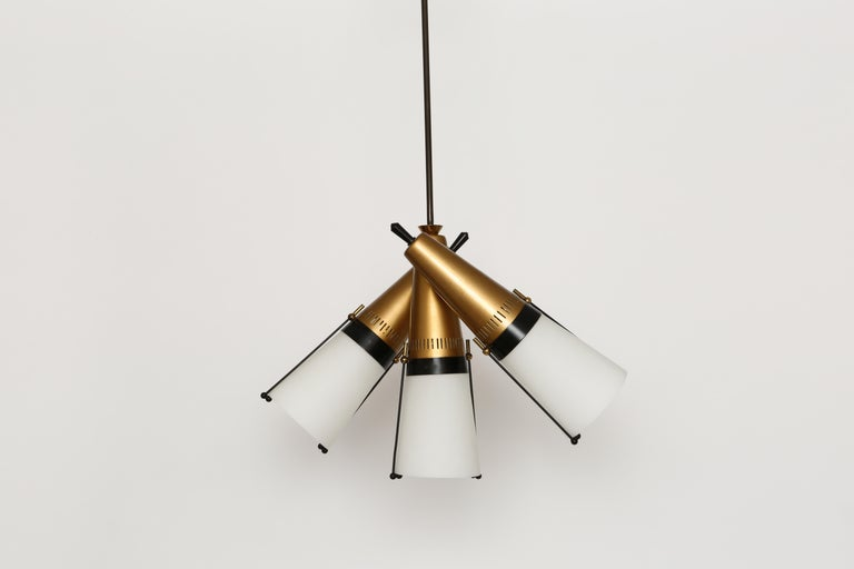 Enameled Ceiling Pendant by Lamperti For Sale