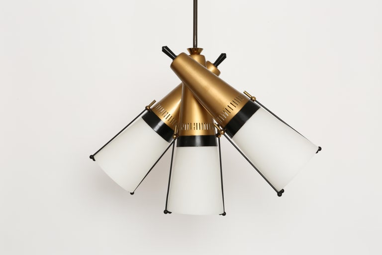 Mid-20th Century Ceiling Pendant by Lamperti For Sale