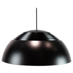 Ceiling Pendant, Royal, in Black Metal Designed by Arne Jacobsen