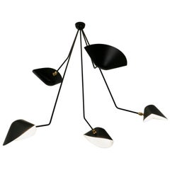 Ceiling Pendant Spider Lamp with Five Broken Arms by Les Editions Serge Mouille