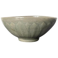 Celadon Ceramic Lotus Bowl Korean Goryeo Dynasty