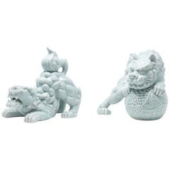 Celadon Foo Dogs, Andrea by Sadek