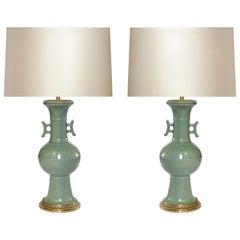 Celadon Glazed Porcelain Lamps