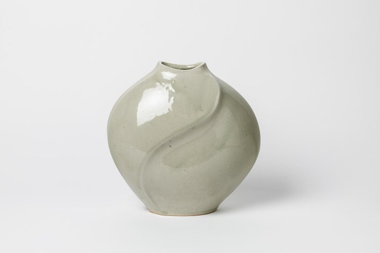 Askett  Realised circa 1970  French porcelain ceramic vase   Original good condition  Signed   Measures: Height : 24 cm  Large : 23 cm.