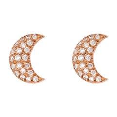 Celaeno Earrings, White Diamonds, 18 Karat Rose Gold