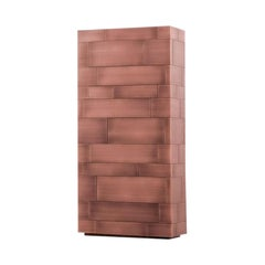 Celato Cabinet / Chest of Drawers in Copper by De Castelli