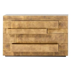 Celato Chest of Drawers in Brass by De Castelli