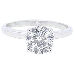 Celebration Diamond Engagement Ring Round 1.59 CTS I SI1 14K White Gold GIA