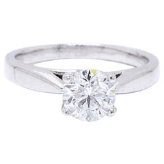 Celebration Grand Diamond Engagement Ring Round 1.04 Cts H I1 14k White Gold