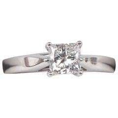 Celebration Grand Diamond Ring Princess 1.00 Carat G I1 14 Karat White Gold
