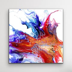 Colorful Abstract Contemporary Painting, Large Giclee Print, Signed by artist.