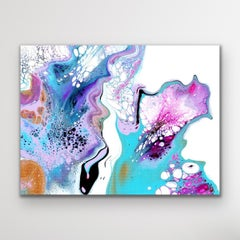 Contemporary Abstract Fluid Art, Celeste Reiter, Signed LE, Large Modern Print