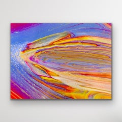 Contemporary Abstract Fluid Art, Celeste Reiter, Signed LE Modern Print on Metal
