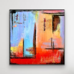 Contemporary Abstract Painting, Colorful Giclee Print, Limited Edition Signed