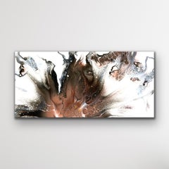 Contemporary Fluid Art, Modern Abstract Painting, LE Print Signed by artist.