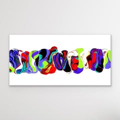 Contemporary Modern Art, Fluid Abstract Painting, LE Print Signed by artist.