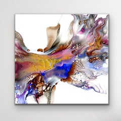 Contemporary Painting, Large Indoor Outdoor Giclee Print, LE Signed by artist.