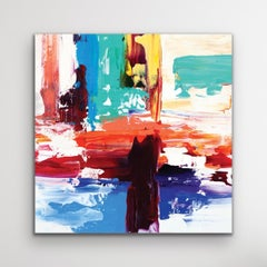 Contemporary Painting, Modern Decor, Large Indoor Outdoor Giclee Print on Metal