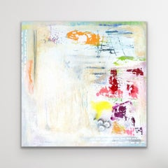 Contemporary White Abstract Painting, Modern Print, LE Signed by Celeste Reiter