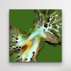 Modern Abstract Fluid Art, Large Painting Giclee Print, LE Signed by artist.