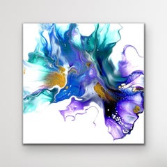 Modern Abstract Fluid Art Painting, Contemporary Giclee Print, LE Artist Signed