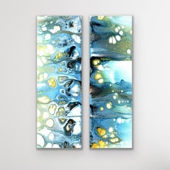 Modern Abstract Painting Diptych, Celeste Reiter, Signed Limited Edition Giclee'