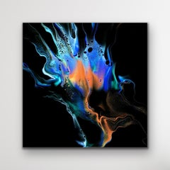 Modern Abstract Painting, Large Giclee Print on Metal, LE Signed by artist.