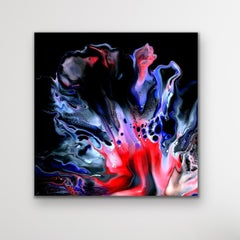 Modern Black Wall Art, Contemporary Large Indoor Outdoor Print, Artist Signed
