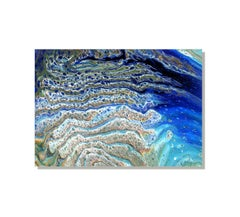 Large Contemporary Abstract Painting, Ocean Waves Inspired, Modern Giclee Print